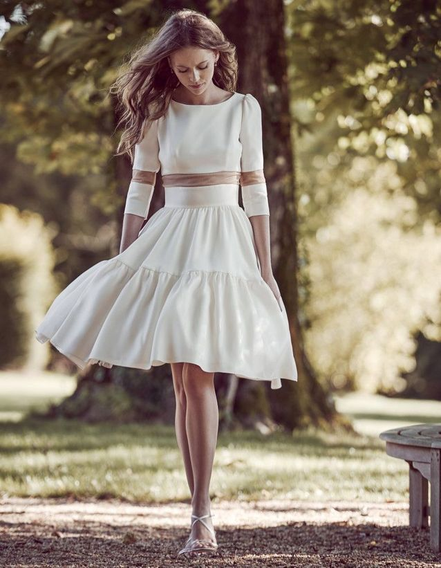 Robe de mariée courte glamour Delphine Manivet