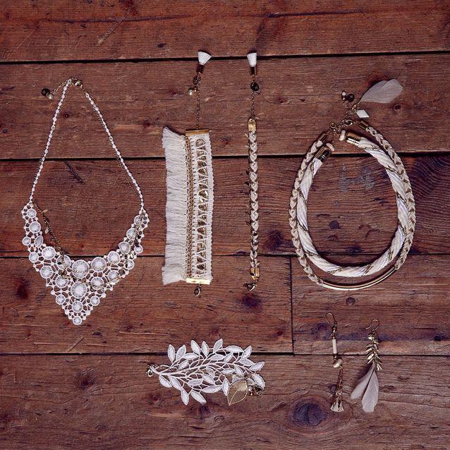 Bijoux de mariage d'inspiration folk