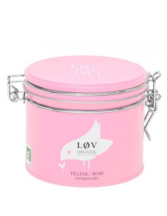Tisane de tilleul et rose, Lov Organic, 11,80 €, 100 g