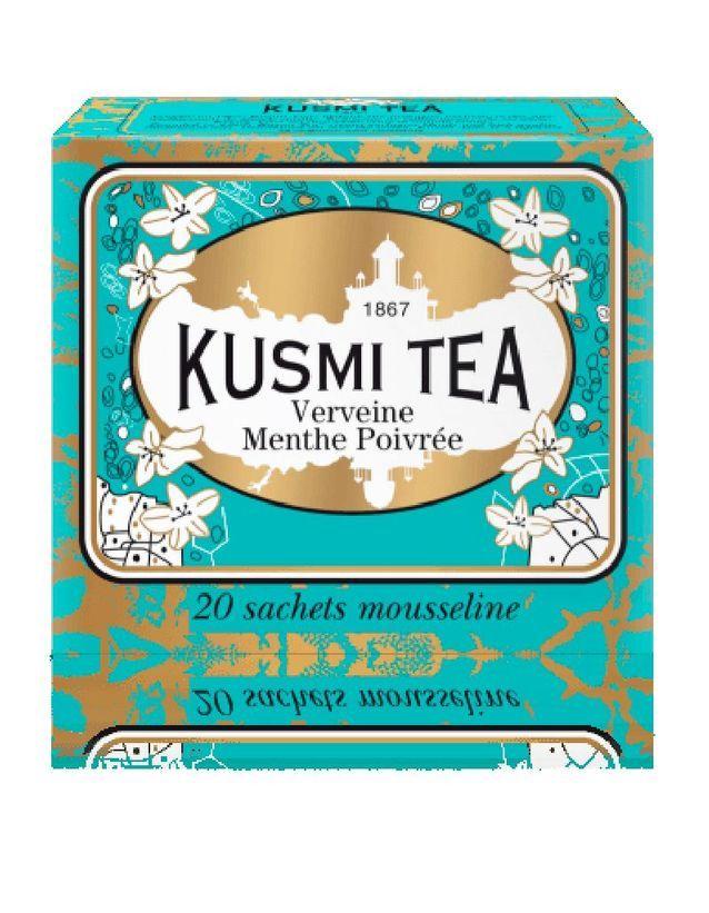 Verveine Menthe Poivrée, Kusmi Tea, 10,90 € les 20 sachets