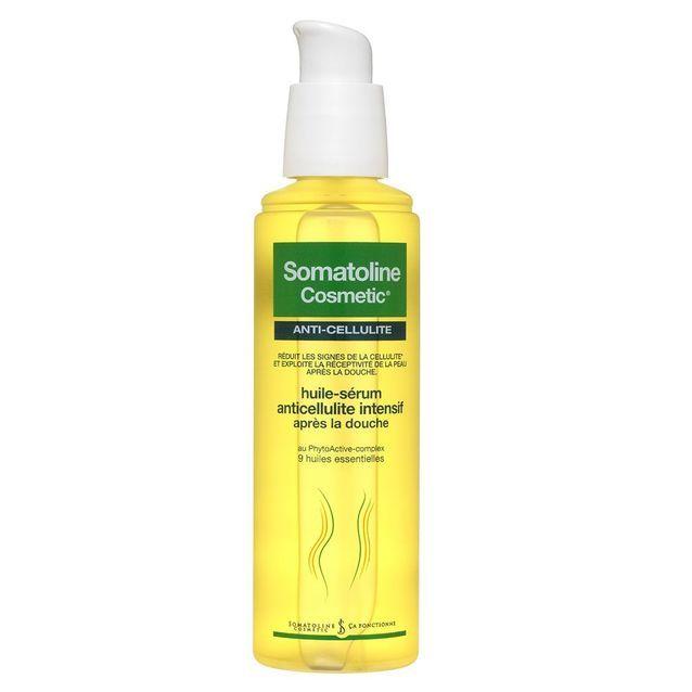 Huile-Sérum anticellulite intensif après la douche, Somatoline Cosmetic, 125 ml, 31,50 €