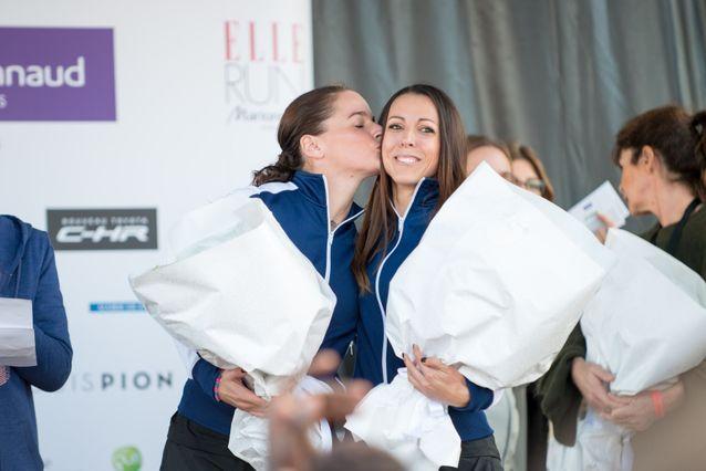 Première place du podium au classement feminin pour ces deux coureuses