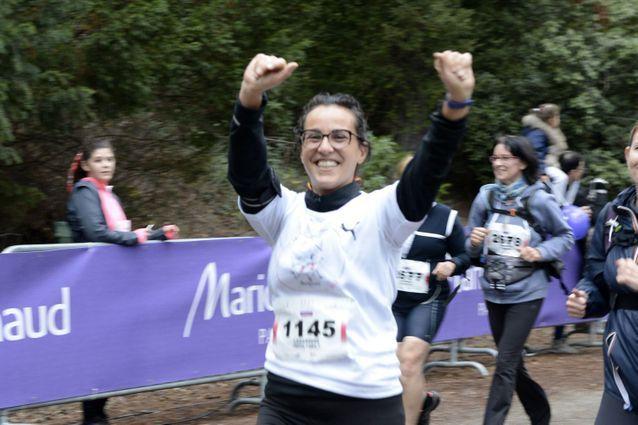 7 kilomètres d'effort, mais toujours de la bonne humeur à la ELLE Run Marionnaud