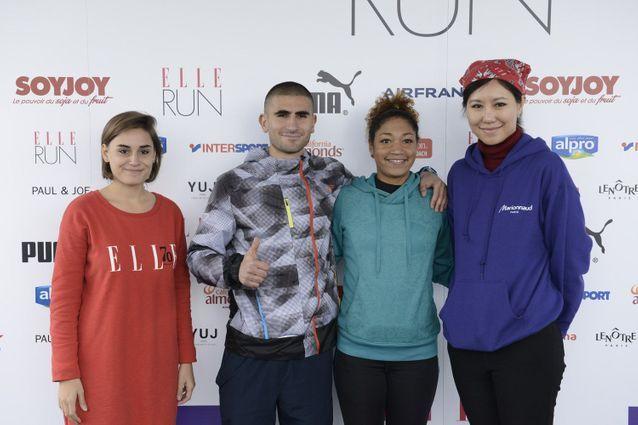 Première place du podium au classement mixte pour ces coureurs de la ELLE Run Marionnaud