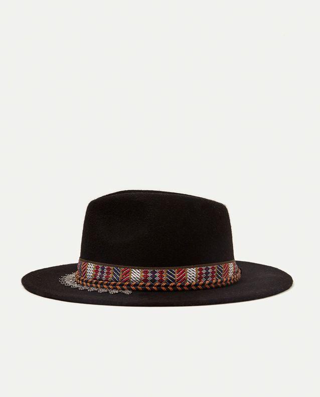 Chapeau contrasté Zara