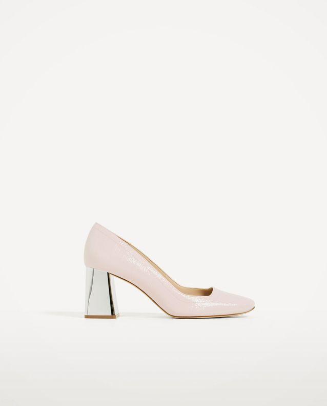 Chaussures à talons argentés Zara