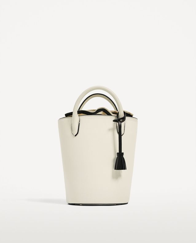 Mini sac seau immaculé Zara