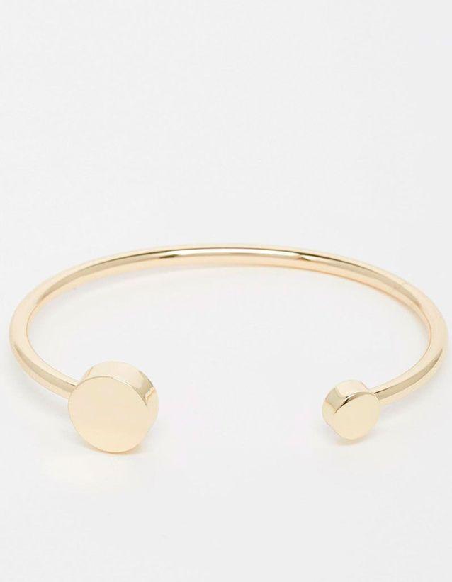 Bracelet jonc doré Weekday