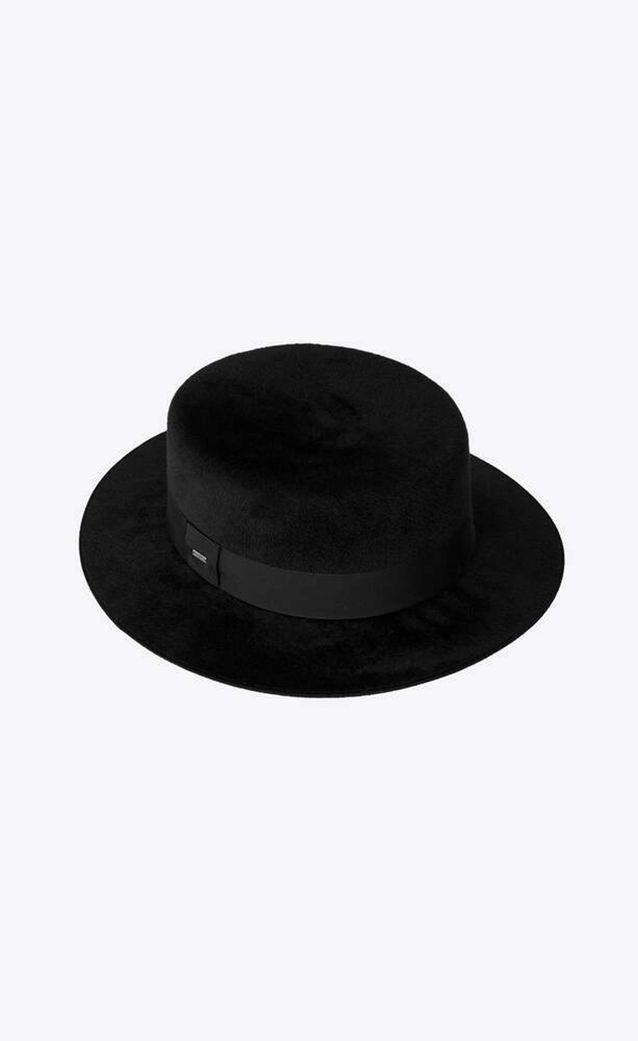 Tendance chapeaux de l'hiver le canotier en feutre