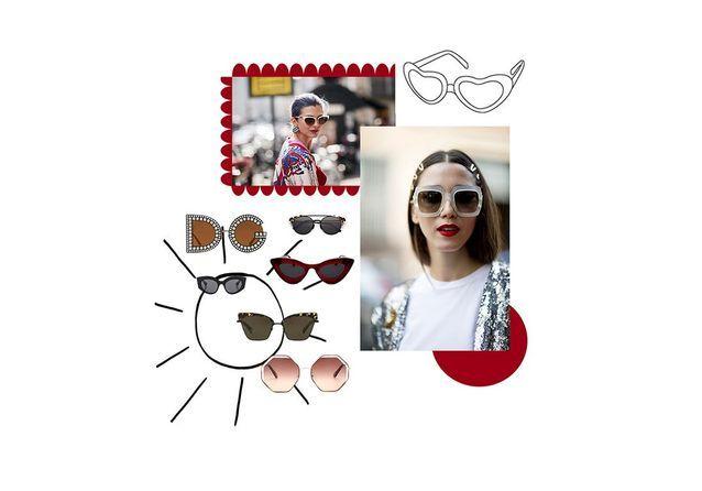 2d0fda7b6cdf2a Lunettes de soleil femme été 2018   40 paires de lunettes de soleil ...