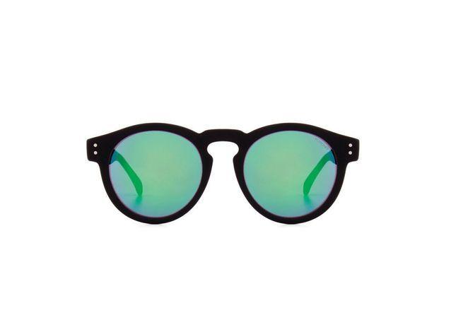 Lunettes de soleil miroir vert Komono