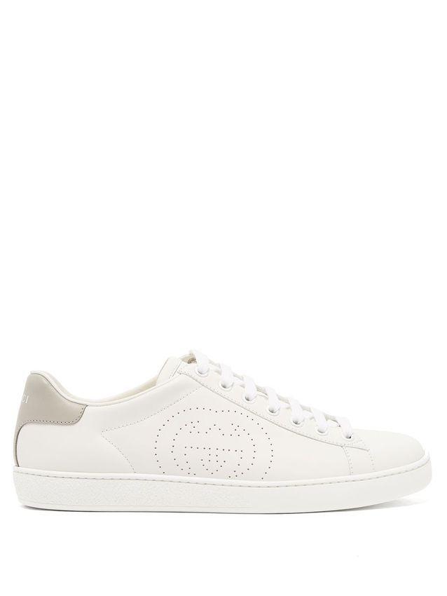 Baskets blanches Gucci sur MATCHESFASHION