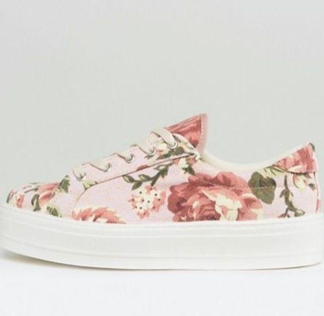 Baskets à fleurs Asos
