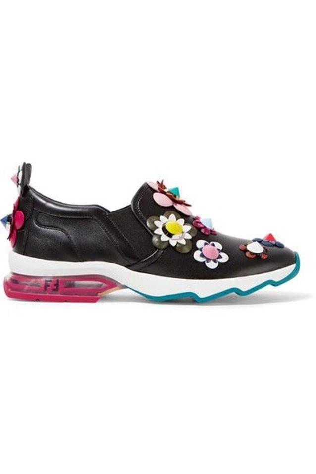 Baskets à fleurs Fendi