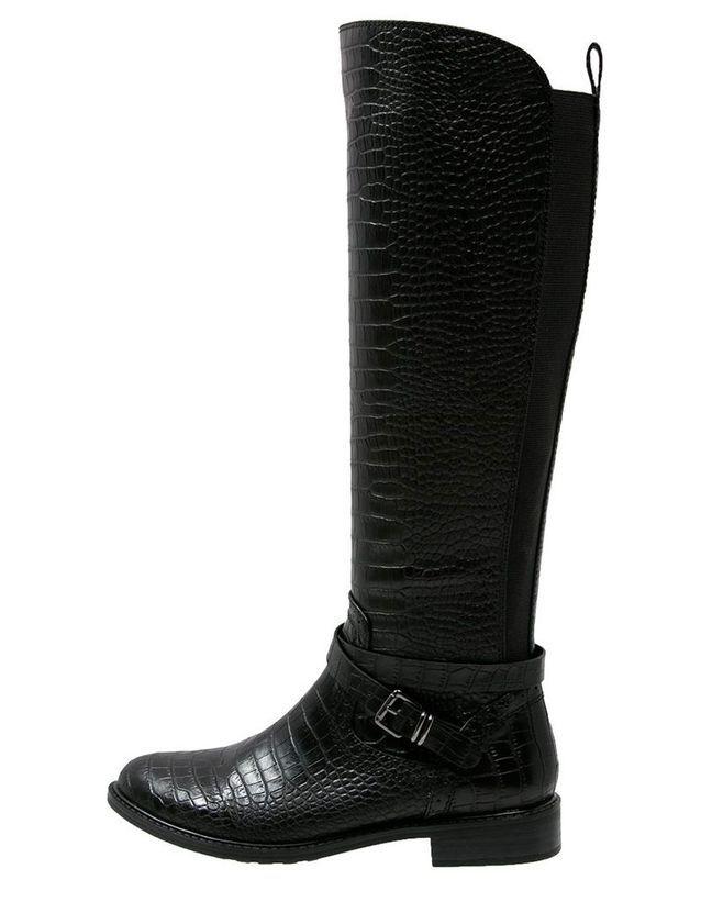 Bottes cavalières en cuir noir Anna Field
