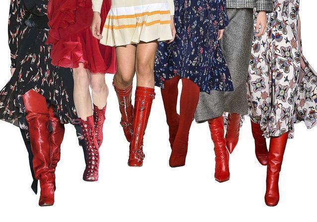 Bottes rouges Elle