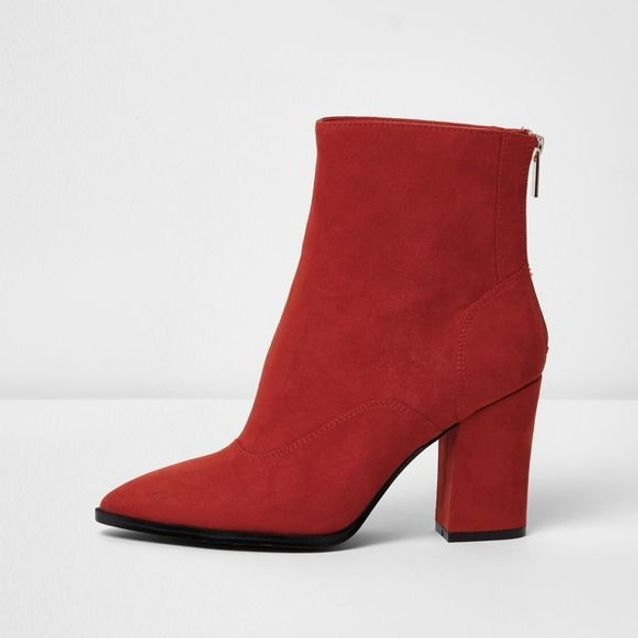 Bottes rouges pointues River Island
