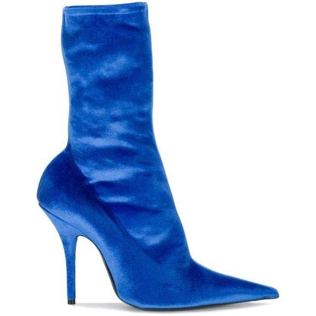 Bottines chaussettes bleu Balenciaga