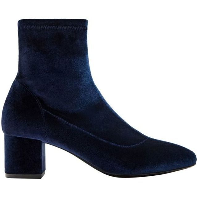 Bottines chaussettes en velours Pull & Bear