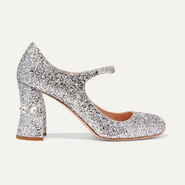 Chaussures à talons à paillettes Miu Miu