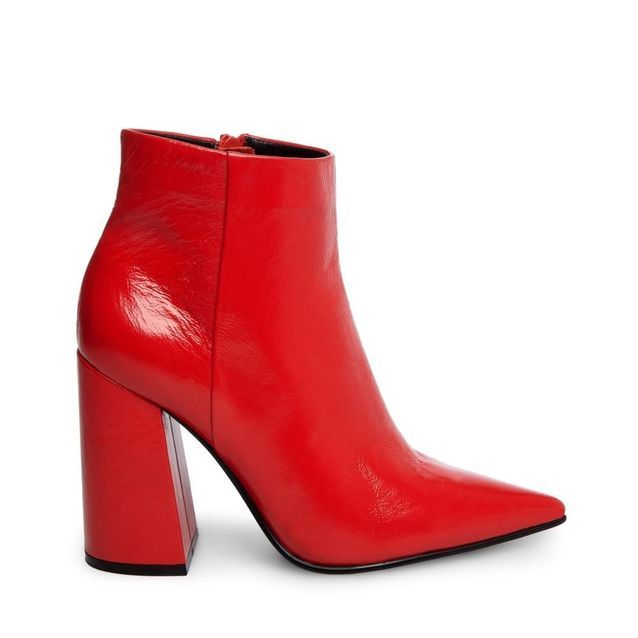 Bottines pointues rouges Steve Madden