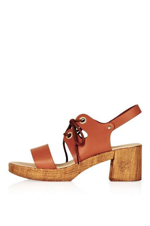 Grosses sandales en bois Topshop