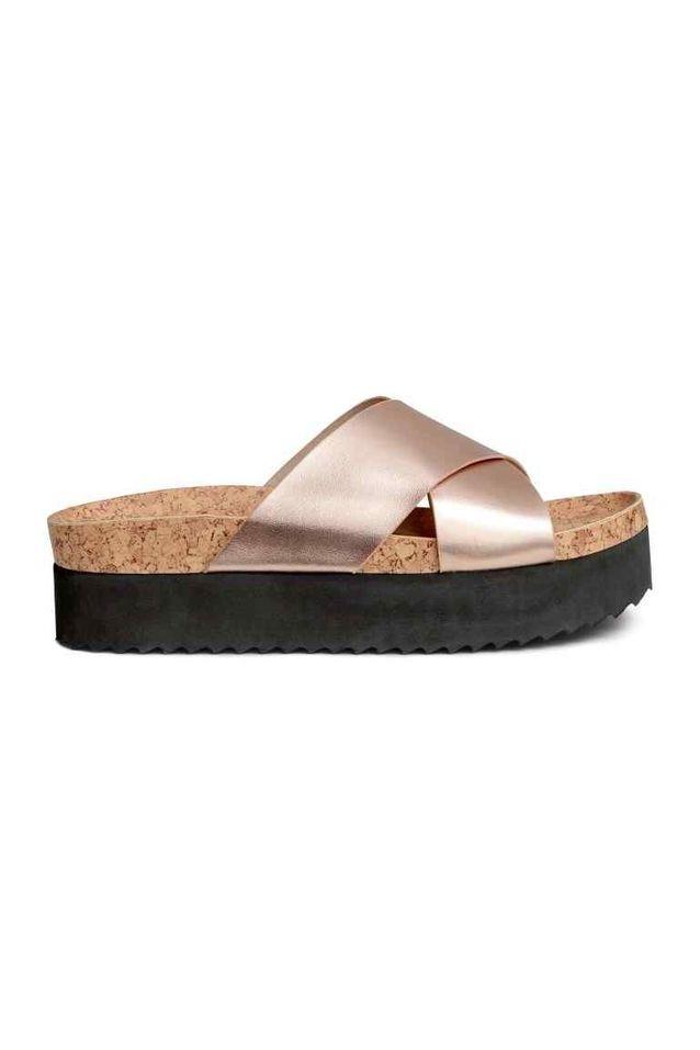 Grosses sandales en liège H&M