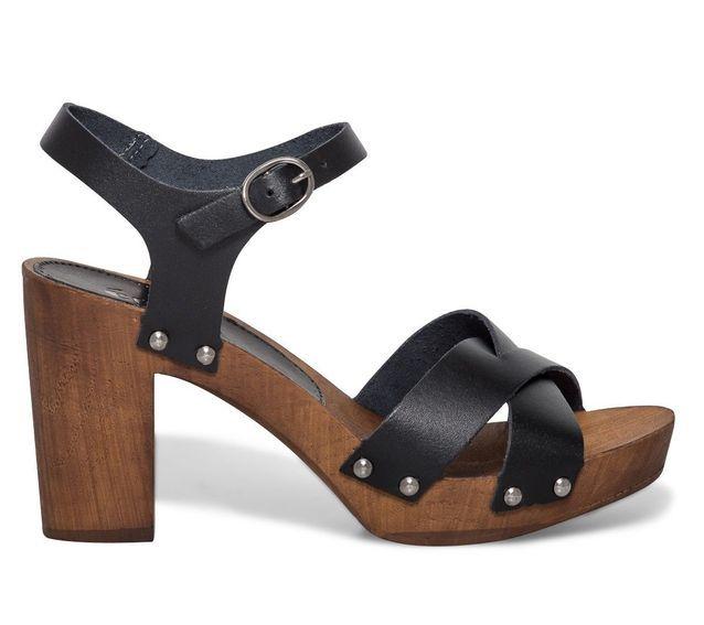 Grosses sandales noires Eram