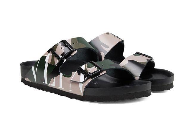 Les sandales de la deuxième collaboration entre Valentino et Birkenstock