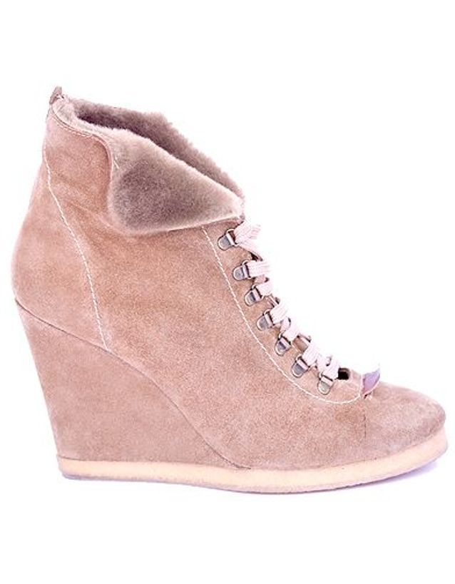 Mode guide shopping tendance look chaussures boots fourrees sandro rose