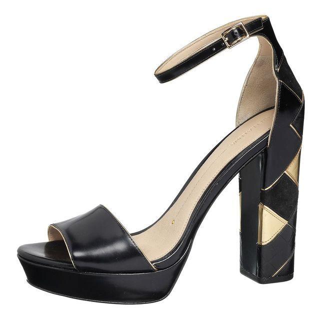 Sandales à plateau bicolores