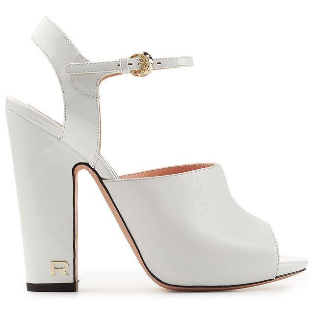 Sandales à plateau blanches