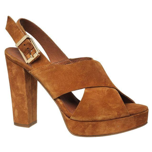 Sandales à plateau en veau velours