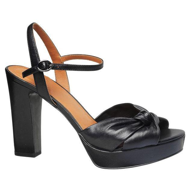 Sandales à plateau noires