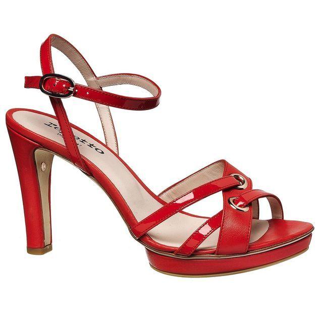 Sandales à plateau rouges