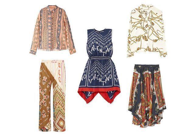 20 pièces canon pour adopter la tendance imprimé foulard
