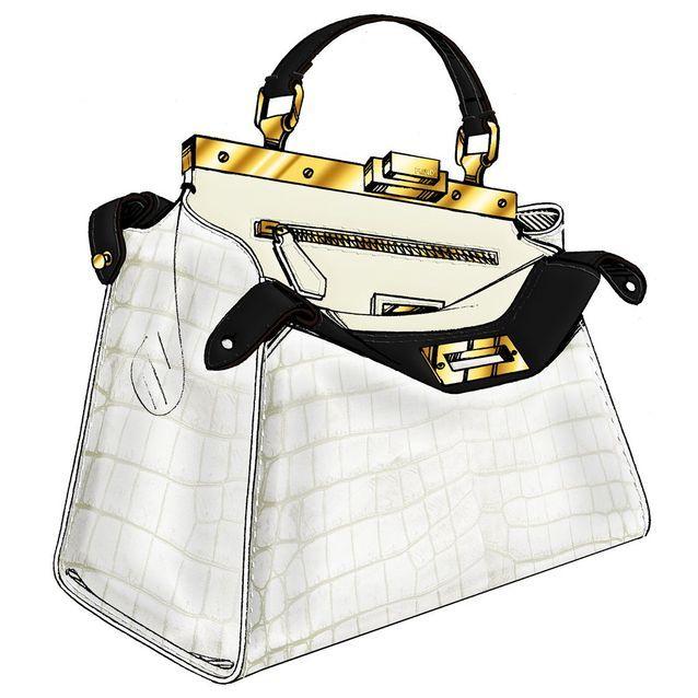 Le sac Peekaboo noir et blanc