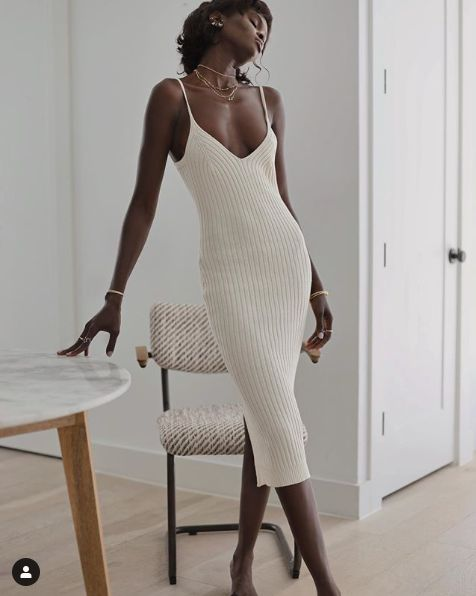 La robe en maille