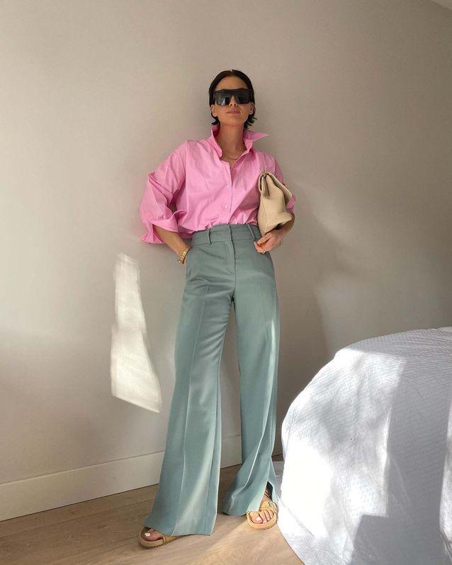 Chemise rose d'homme de Naaomi Ross