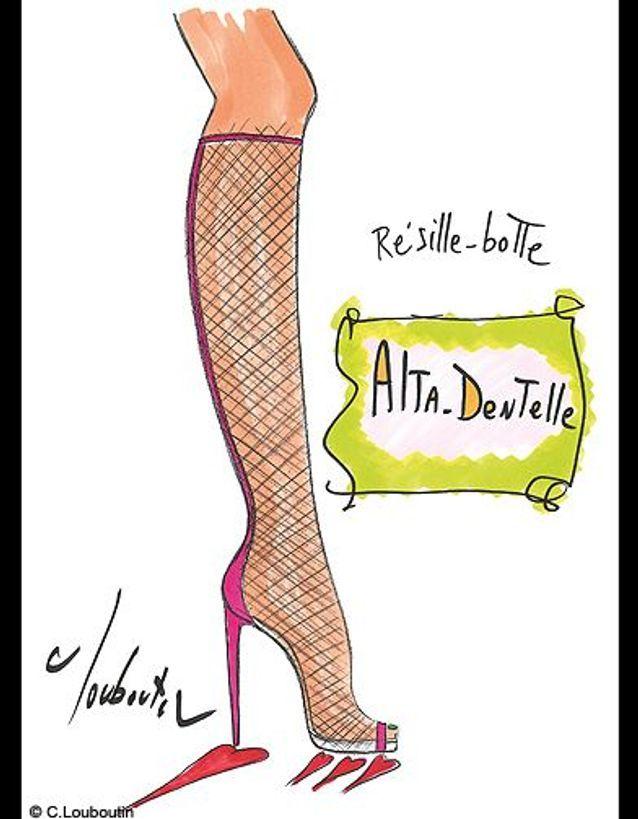 Christian Louboutin Alta Dentelle Drawing