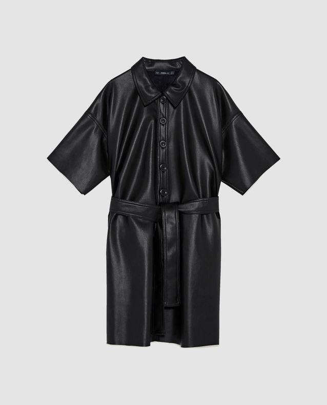 taille 40 56128 7c9a0 Robe chemise effet cuir Zara - Nos 15 coups de cœur Zara ...