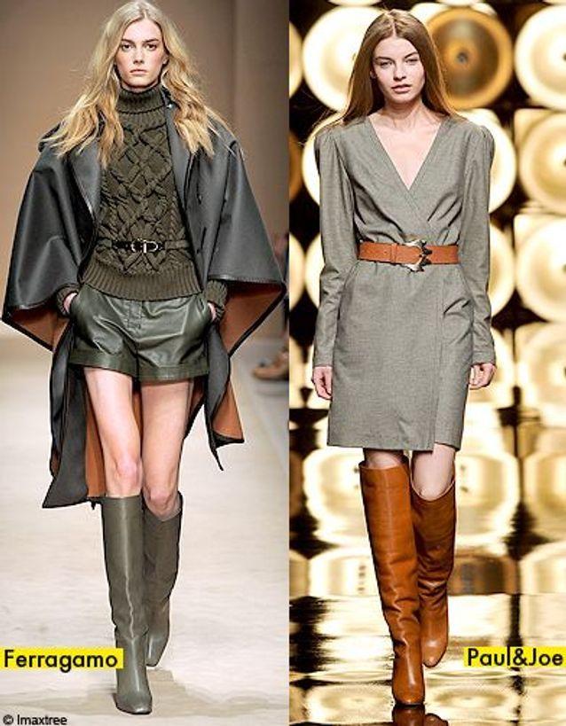 Mode diaoprama tendance beige bottes cavalieres
