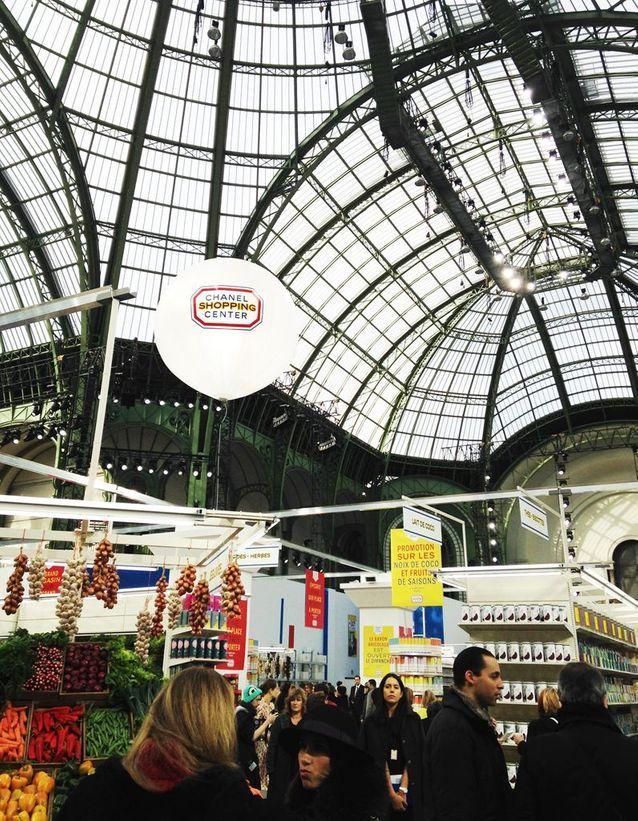 La nef du Grand Palais reconvertie en supermarché
