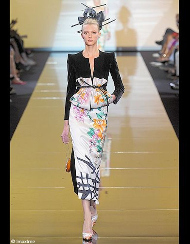 Mode tendance defiles haute couture coup coeur Armani Prive