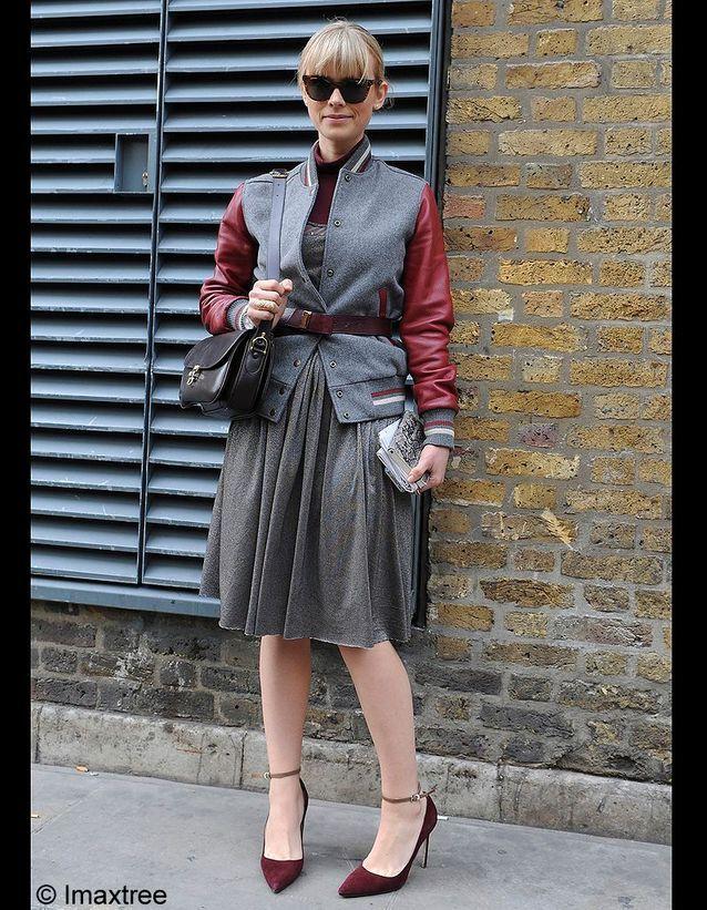 Fashion faux pas mode veste sport avec jupe