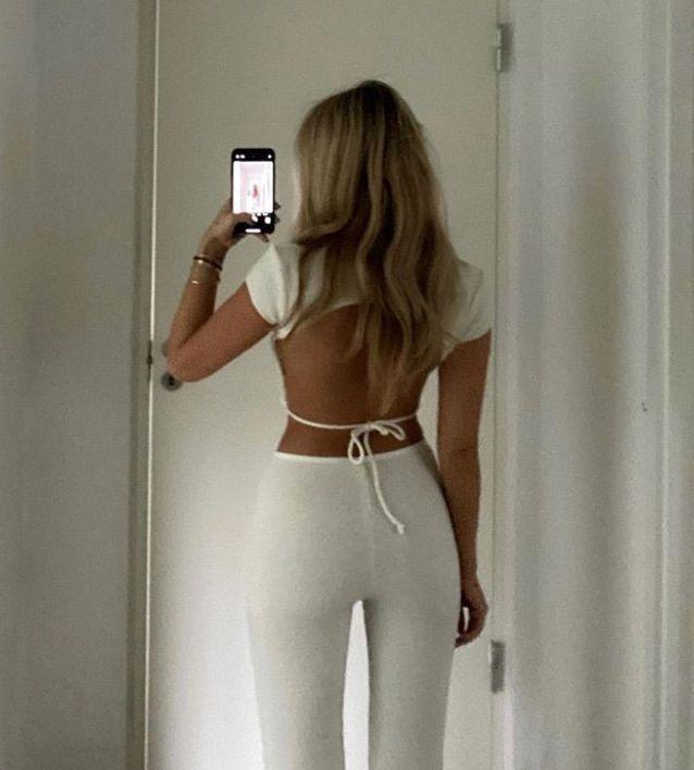 Tie Back blanc