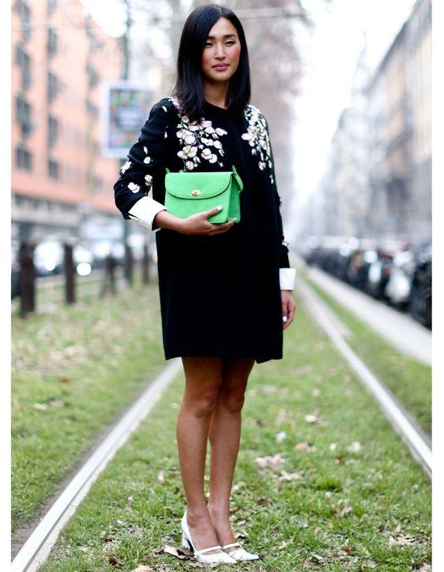 Look végétal à la Fashion Week de Milan