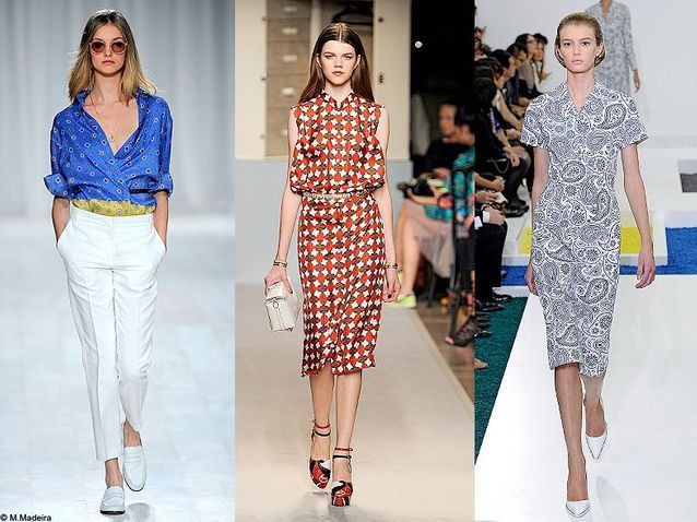 Mode tendance defiles fashion week foulard