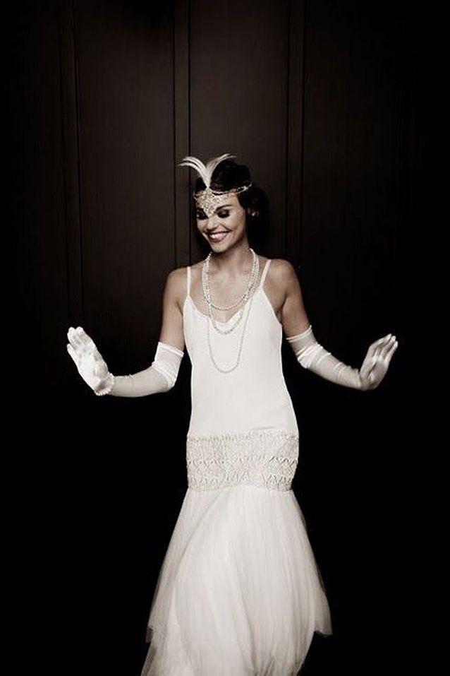 Mode années 20 robe de mariée