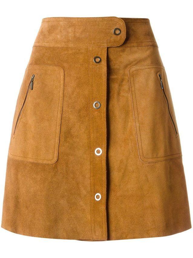 Mini-jupe en daim Maison Margiela